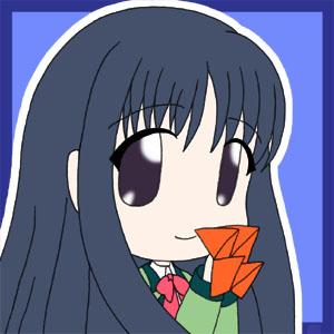 『むすんで、ひらいて』より 小泉芳乃  描いてみたらナ○ミ様にそっくりになってるんですが(汗)。 んなこといってたら黒髪ロングストレートな娘さんは大差ナシですって(言い訳)  折り紙部にいるとの事なので持たせる折り紙に迷ったんで、 「ぱっくん」とか言うのを持たせてみたけど、 どうもオーソドックスに折り鶴でよかった見たいですorz